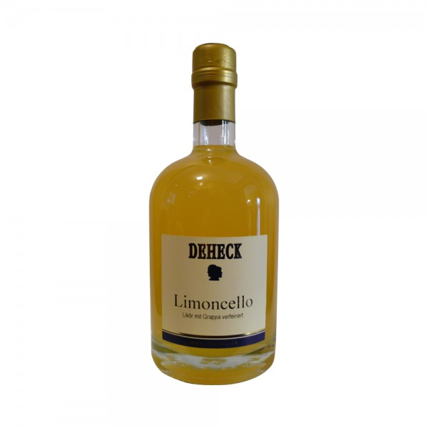 Deheck Limoncello with Grappa liqueur